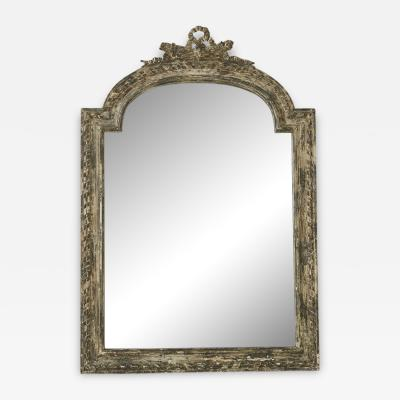 Louis XV Style Carved Wall mirror With Distressed Finish France 19th Century