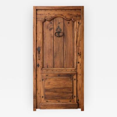 Louis XV Style Walnut Wood Entry Door