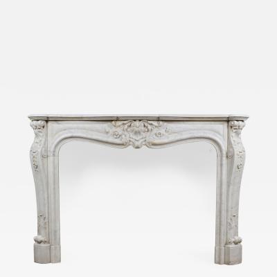 Louis XV White Marble Mantle