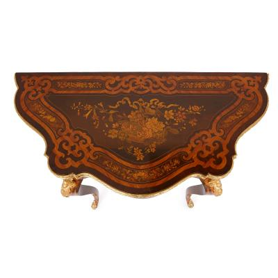 Louis XV style gilt bronze and marquetry card table