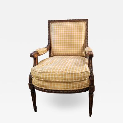 Louis XVI 19th Century Armchair Fauteuil Bergere or Office Desk Chair