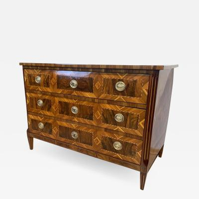 Louis XVI Commode Walnut Maple Plum Ebony Brass South Germany circa 1790