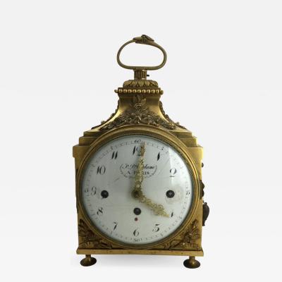 Louis XVI Ormolu Carriage Clock Pendule dOfficier Late 18th Century