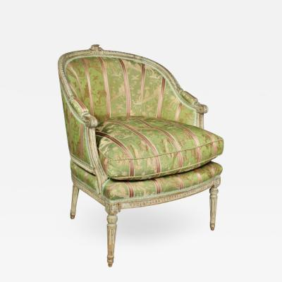 Louis XVI Painted Bergere