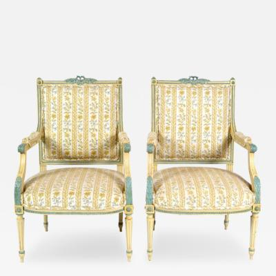 Louis XVI Pair of Armchairs 19th C France