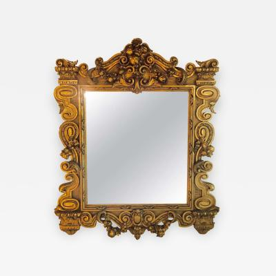 Louis XVI Style Gilt Decorated Wall or Console Mirror
