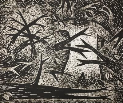 Louisa Chase Thicket Black and White