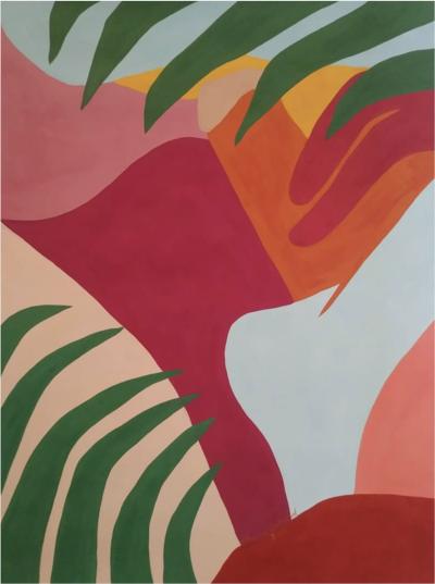 Louise Erhard Louise Erhard Erotic Series No 6 2018 Gouache Painting on Paper Original