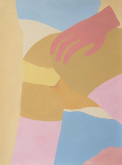 Louise Erhard Modern Erotic Series No 1 Gouache Painting by Louise Erhard