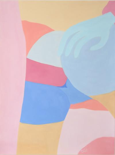Louise Erhard Modern Erotic Series No 2 Gouache Painting by Louise Erhard