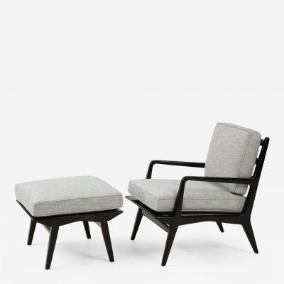 Lounge chair and ottoman Carlo di Carli for M Singer Sons