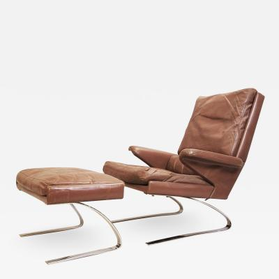 Lounge chair ottoman by reinhold adolf and hans j rgen for COR