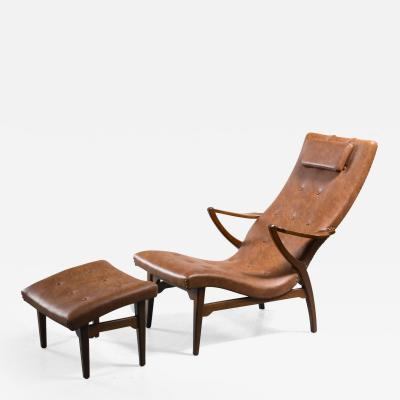 Lounge chair with ottoman Sweden 1930s