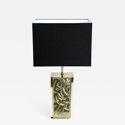 Lova Creations Large signed Lova Creation bronze table lamp 1970 s