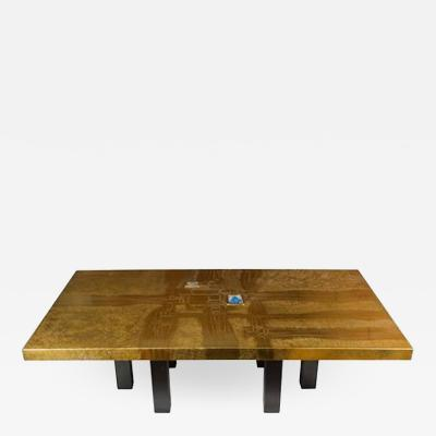 Lova Creations Stunning Acid Etched Polished Brass Coffee Table by Lova Creation