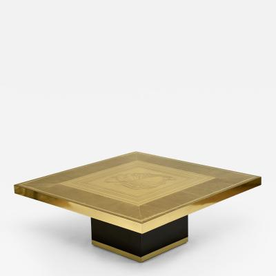 Lova Creations Stunning etched brass coffee table by Lova Creations