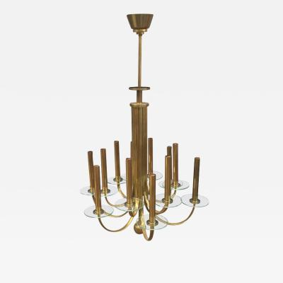 Lovely Art Deco brass Chandelier