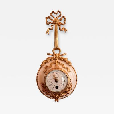 Lovely Ormolu And Alabaster Cartel Clock In the Louis XVI Style By Bourdet