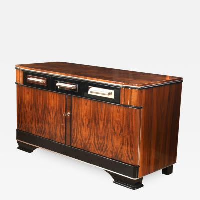 Low Bauhaus Sideboard Walnut ca 1930