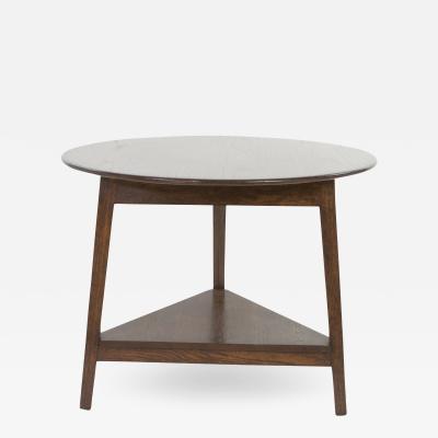 Low Elm Cricket Table With Triangular Lower Shelf 20th Century