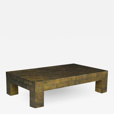 Low Modern Lacquered Parchment Coffee Table