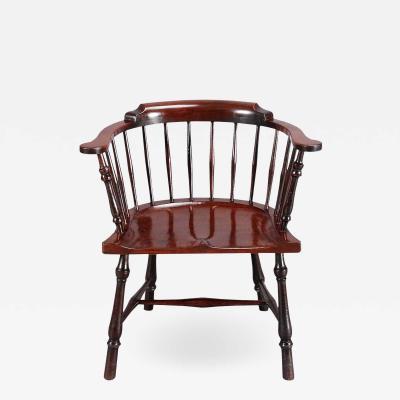 Low back Mahogany Windsor Chair