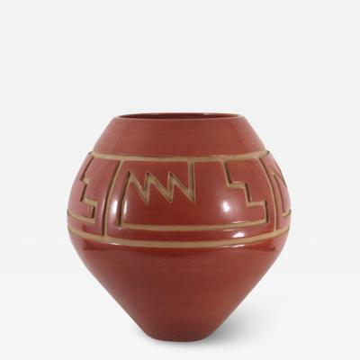 LuAnn Tafoya Santa Clara incised jar by LuAnn Tafoya