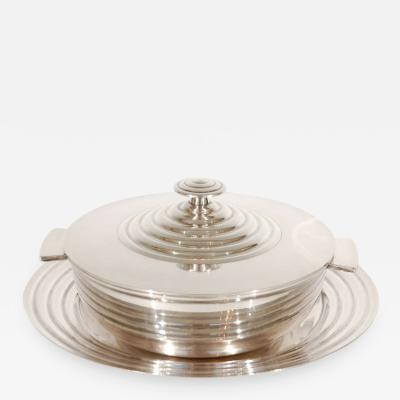 Luc Lanel Silver Plate Lidded Dish Underplate by Luc Lanel