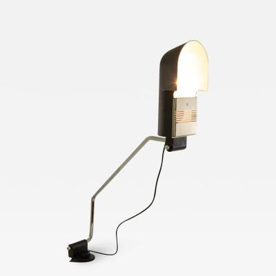 Luci Italia Black clamp table lamp Pala by Corrado and Luigi Aroldi for Luci 1970s