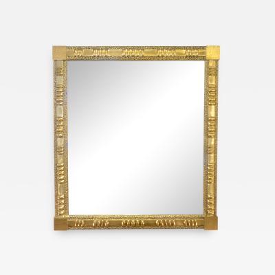 Luciano Frigerio 1970s Vintage Luciano Frigerio Italian Cast Bronze Brutalist Rectangular Mirror