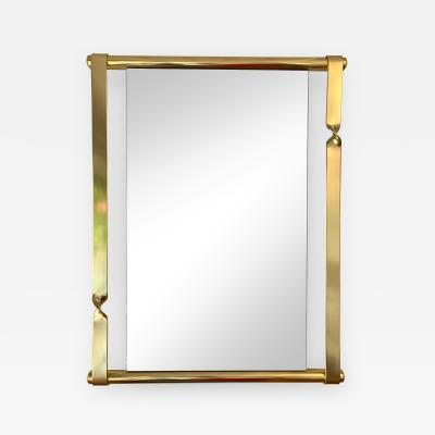 Luciano Frigerio Brass Mirror by Luciano Frigerio Italy 1970s