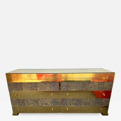 Luciano Frigerio Brass and Bronze Sideboard Dresser by Luciano Frigerio Italy 1970s