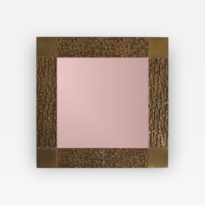 Luciano Frigerio Bronze wall Mirror by Luciano Frigerio