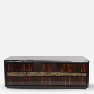 Luciano Frigerio Fine Italian modern Rosewood and Brass Buffet or Sideboard Luciano Frigerio