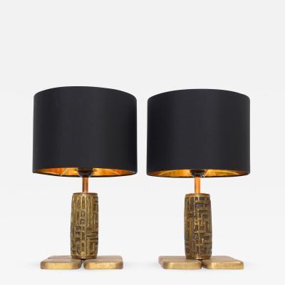 Luciano Frigerio Luciano Frigerio Bronze Table Lamps c 1960