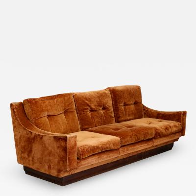 Luciano Frigerio sofa MidCentury by Luciano Frigerio in original velvet orange 1970s