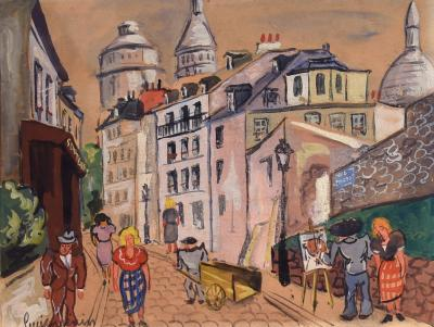 Lucien Genin Artist at Work Montmartre