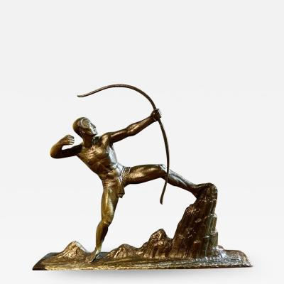 Lucien Gibert Lucien Gibert Bronze Statue The Archer French Art Deco Sculpture