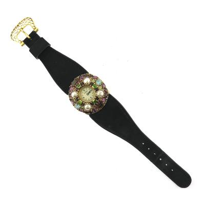 Lucien Piccard Lucien Piccard Multicolored Gem Leather Strap Watch