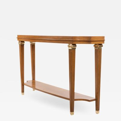Lucien Rollin Customizable French Mid Century Sycamore Console Table