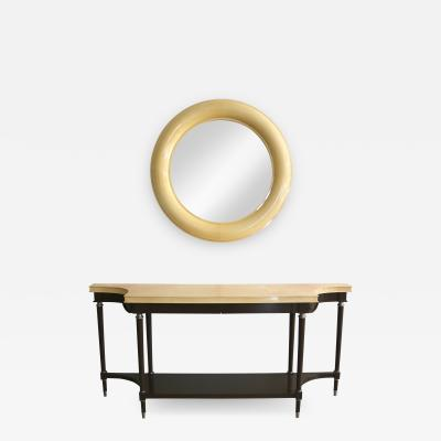 Lucien Rollin William Switzer Lucien Rollin Andre Arbus Goatskin Lacquered Console Mirror