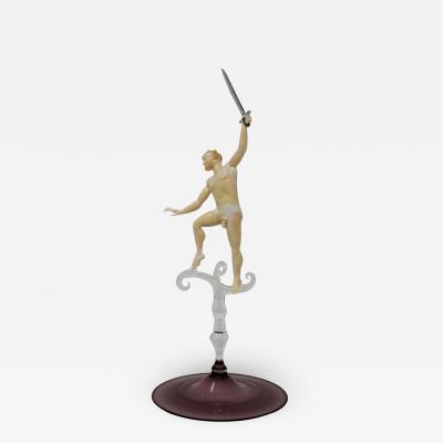 Lucio Bubacco Dancing Satyr With Sword Sculpture by Lucio Bubacco