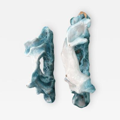 Lucio Fontana Pair of Lucio Fontana Ceramic Door Handles