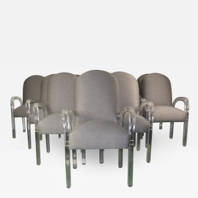 Lucite Dining Chairs S 10