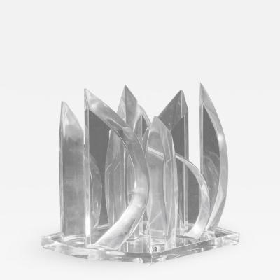 Lucite Flames Sculpture