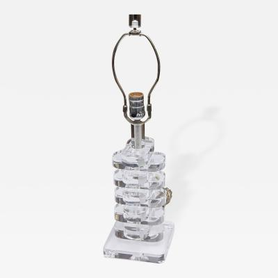 Lucite Multi Tiered Table Lamp