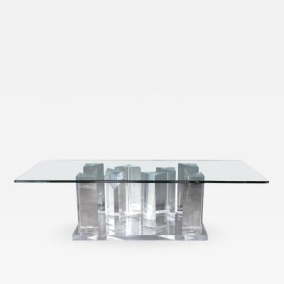 Lucite Prism Coffee Table