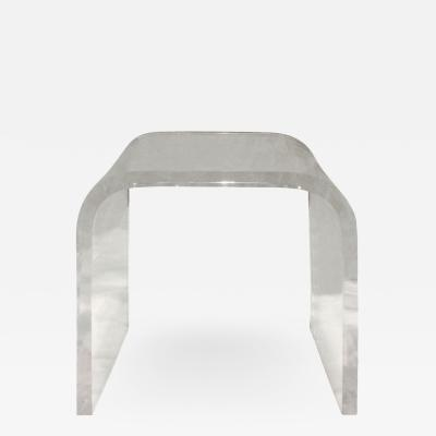 Lucite Waterfall Side Table 1970s