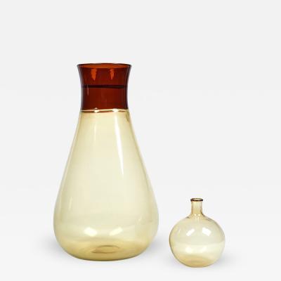 Ludovico Diaz de Santillana Coletti Flask In Blown Glass by Ludovico De Santilana for Venini