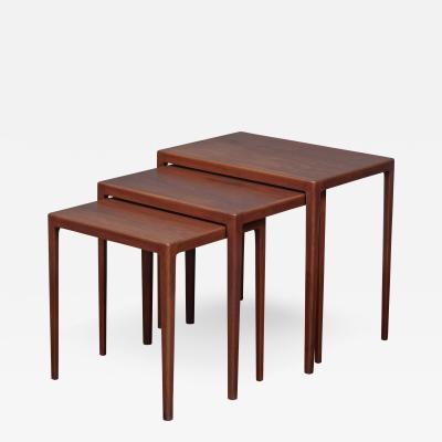 Ludvig Pontoppidan Scandinavian Modern Nesting Tables by Eske Kristiansen for L Pontopiddan